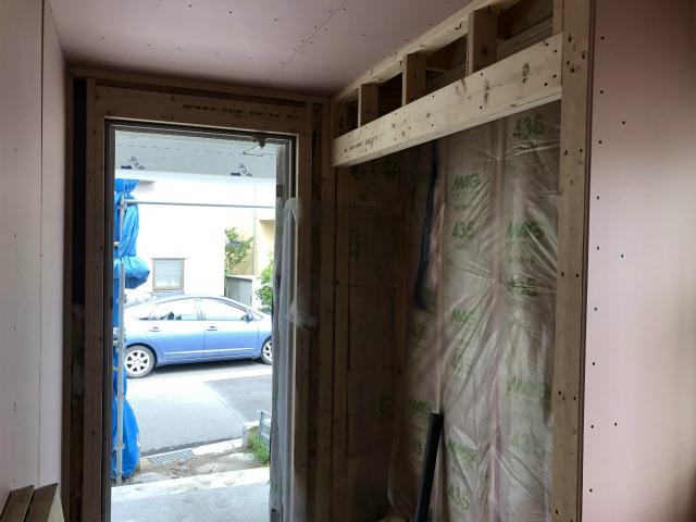 外壁はタイベック貼り完了!