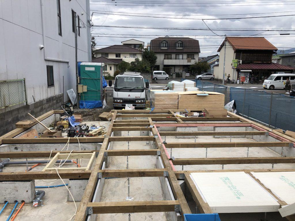 三島市U様邸 土台建方工事開始!!その1