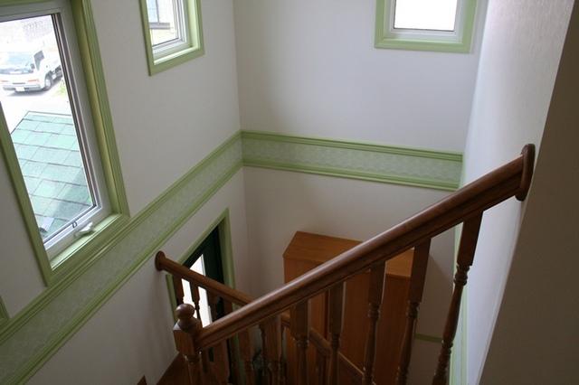 グリーンを基調にしたお家